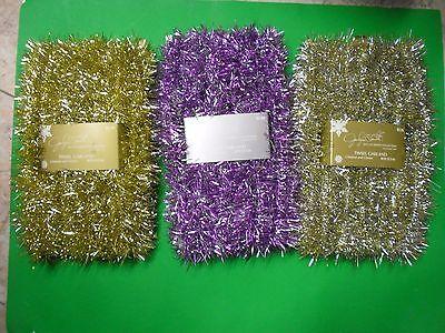 New 40 FT Tinsel Garland Christmas Holiday Decoration Silver Gold Purple/Silver](Garland Christmas Decorations)
