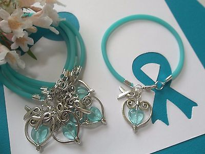 Ovarian Cancer Awareness  Support With Love Bracelets   6 Count
