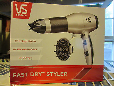 Vidal Sasson VS505 1875W Permanent ='pretty damned quick' Dry Turbo Dryer Unused in open box