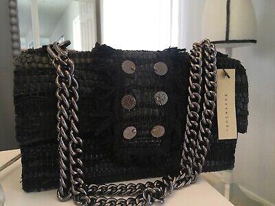 KOORELOO SOHO NEW YORKER BLACK LEATHER LARGE SHOULDER BAG NEW