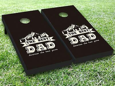 The Best Dad Vinyl Cornhole Bag Toss Game Board Wraps Sticker Decal Skin