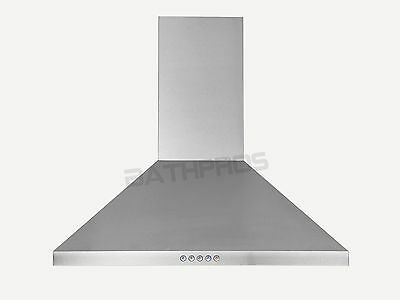 "Led Control Range Hood Stove Vent Fan Stainless Steel 30"" Wall Mount Panel CFM"