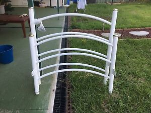 Single white bed frame St Marys Penrith Area Preview