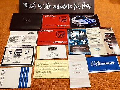 1998 DODGE VIPER OWNERS MANUAL SET +UNUSED SRVCE SECT RT10 GTS RT 10 RT/10 +MRSP