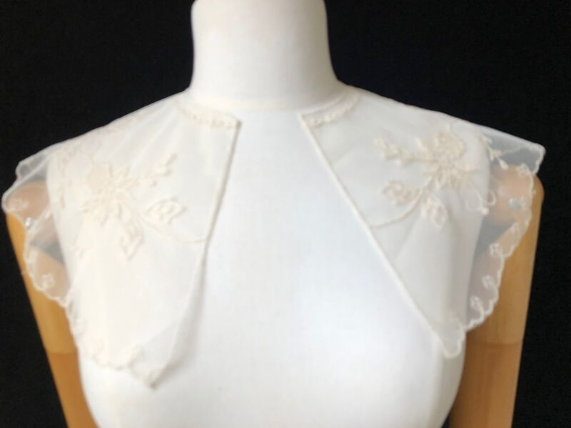 Vintage Ivory Lace Mesh Collar