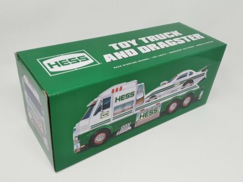 NEW 2016 Hess Toy Truck & Dragster Funny Car NIB Lights Sounds