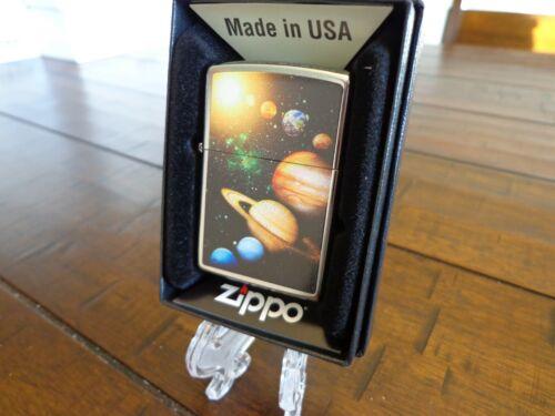 SOLAR SYSTEM PLANETS STARS GALAXY ZIPPO LIGHTER MINT IN BOX