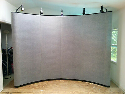 10 X 8 Skyline Mirage Trade Show Display 5 Lights 3 Shelves Flight Cases