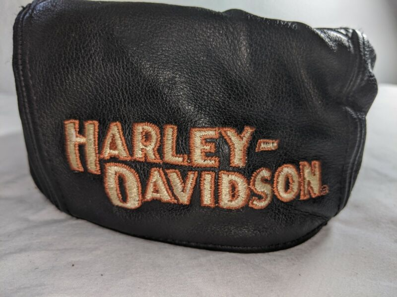 VINTAGE HARLEY DAVIDSON LEATHER BIKER BERET NEWSBOY CABBIE HAT CAP XL
