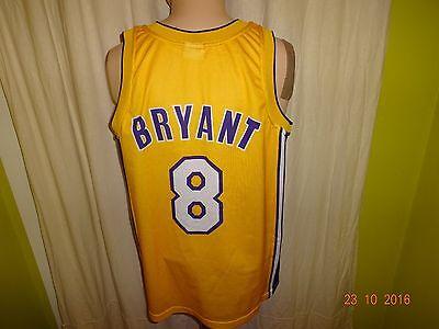 Los Angeles Lakers Original Champion Authentic NBA Trikot + Nr.8 Bryant Gr.M