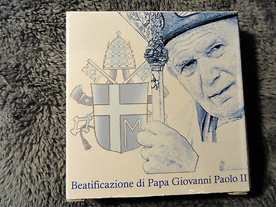 2011 Vatican City 5 Euro Proof Silver Coin Beatification of Pope John Paul II