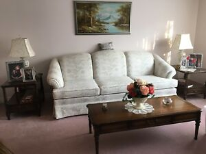 Sofa, 2 end tables ,2 lamps, Coffee table,