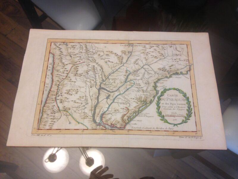 Antique Map South America Bellin