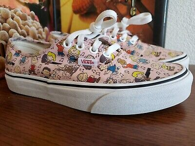 Vans Peanuts Snoopy Dance Party Pink Shoes Sneakers Women's Sz. 6.5 Fast Ship