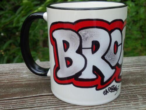 comic style Brooklyn 11 ounce ceramic coffee mug