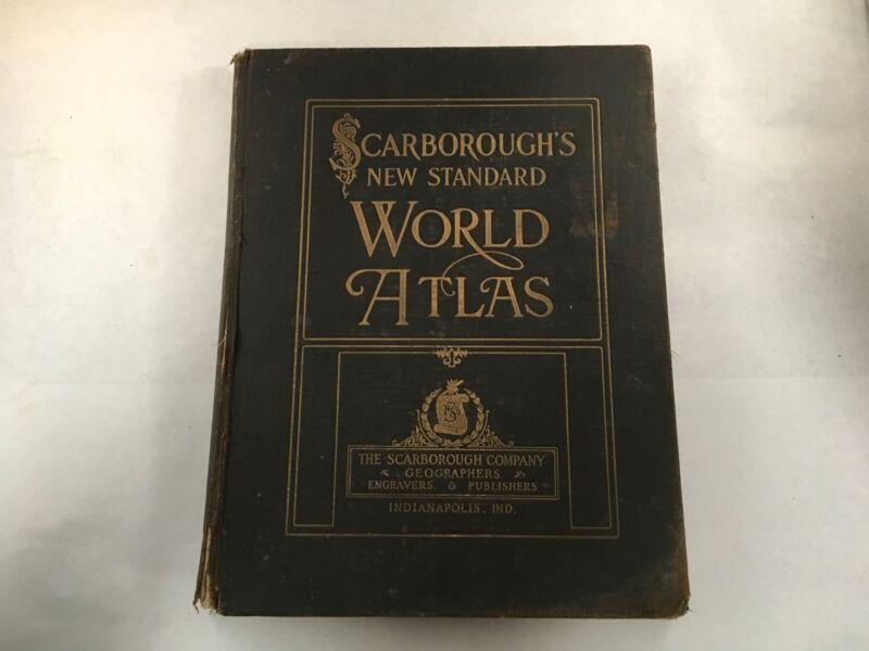 ANTIQUE MAP BOOK SCARBOROUGH