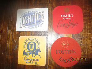 4 special issue FOSTERS LAGER collectable COASTERS