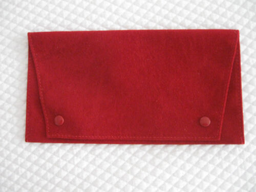 """Cartier Classic Service/Storage Pouch for Sunglasses - ~7 1/2"""" by 4"""", Suede, New"""