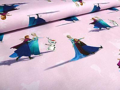 Stoff Baumwolle Jersey Disney Eiskönigin Frozen Anna Elsa rosa Kinderstoff