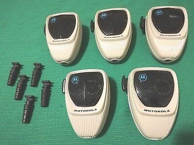 Lot Of 5 Motorola Hmn1052a Radio Microphones For Astro Spectra Maratrac Untested