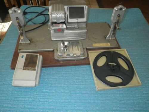 MANSFIELD 8MM FILM EDITOR MODEL 950 ALSO INCLUDES DUAL EIGHT REEL & INSTASPLICER