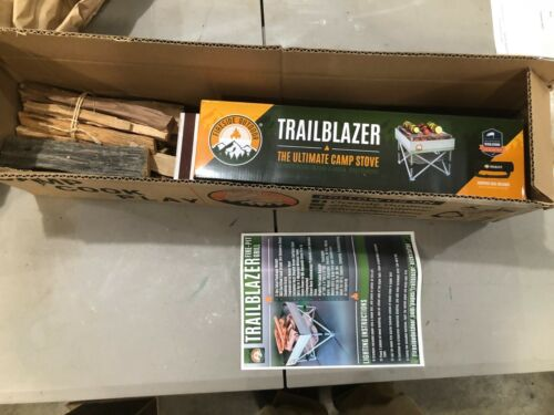 """Trailblazer Portable Wood-Burning Camp Stove/Fire Pit   3 lbs    12"""" x 12"""" Open"""