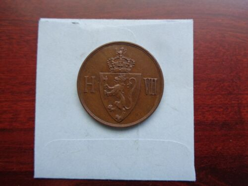 1907 Norway 5 Ore coin Nice condition