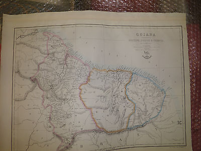 Guiana British DutchFrench1863DispatchAtlasJW Lowry+Engraved EWellerFramed40more