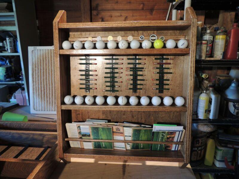 Golf ball / ball mark / pencil / card display (Hand made)