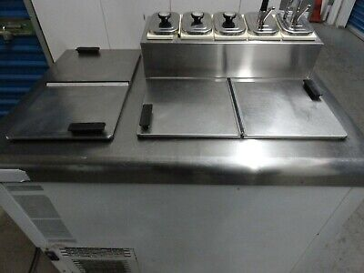 Nelson Commercial Refrigerated Ice Cream Dipping Cabinet With Topping Rail