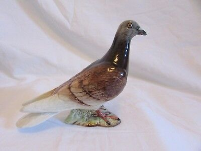 Rare Beswick Pigeon Red Two Stripes On Wings Bird Model 1383 B Early Piece