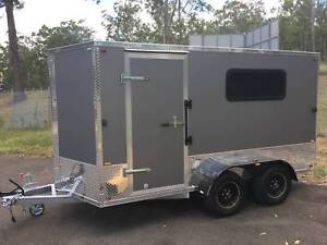6x12ft Enclosed Camping Trailer Custom - Kitchen/Bedding/Awning