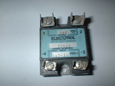 Electrol S2181 Solid State Relay 5.5-10vdc Input  240vac 10a Output Box22