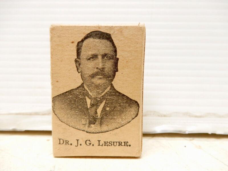 ANTIQUE CONTAINER DR J G LESURE RENOVATOR POWDER UNOPENED NOS