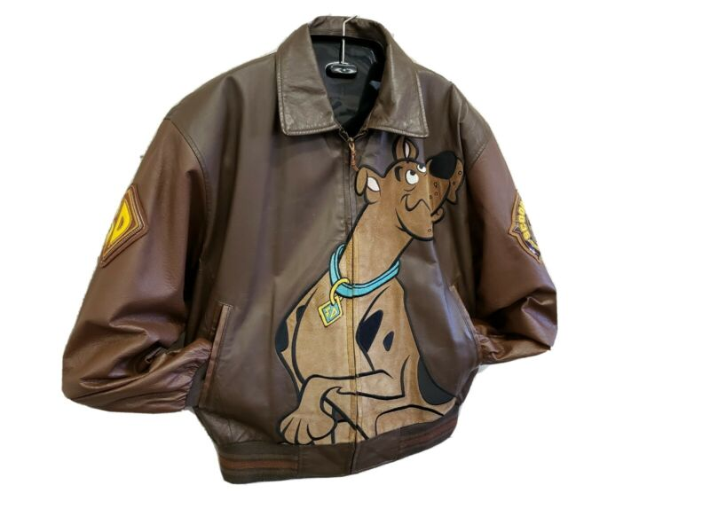 Vintage Official Cartoon Network Genuine Leather Scooby-Doo Jacket L