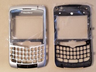 (Blackberry OEM Front Faceplate Housing Lens for CURVE 8300 8310 8320 - SILVER)