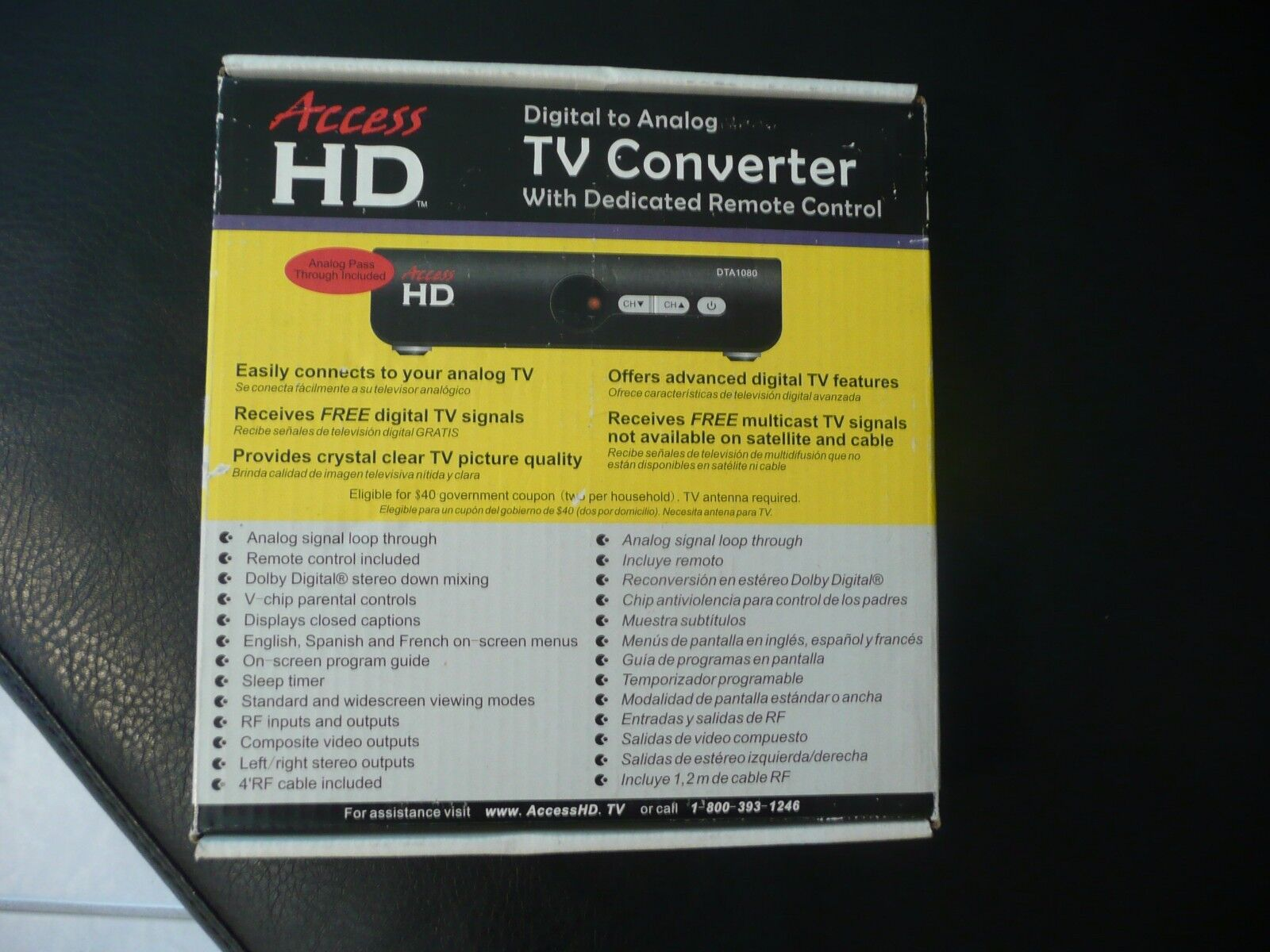 Access HD-TV Converter Digital to Analog with Remote HD