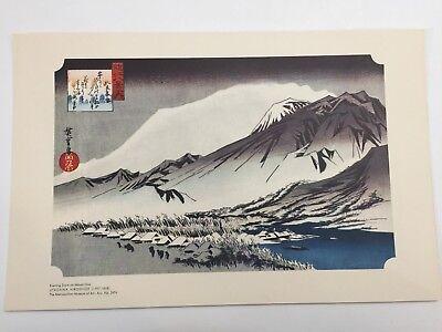 (Metropolitan Museum Art Japanese Print, Utagawa Hiroshige Evening Snow on Mount)