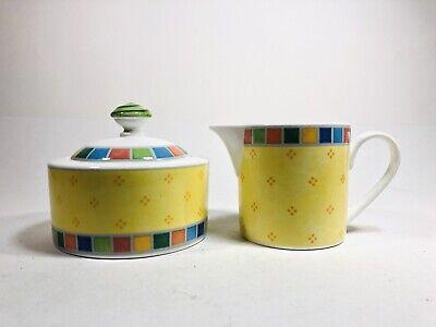 Villeroy & Boch China Creamer (Villeroy & Boch Twist Alea Limone Fine China Sugar Bowl And Creamer)
