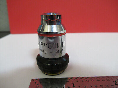 Wild Swiss Objective Phase 100x Fluotar Microscope Part As Pictured B6-a-03