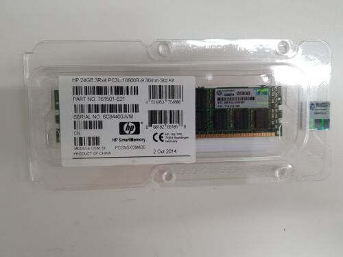 HP 24GB (1X24GB) 3Rx4 PC3L-10600R Std Kit 761501-B21, 716322-081