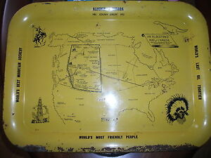 Alberta Golden Jubilee 1905 - 1955  Tray