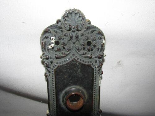 Antique Bronze Art Nouveau Door Knob Backplate