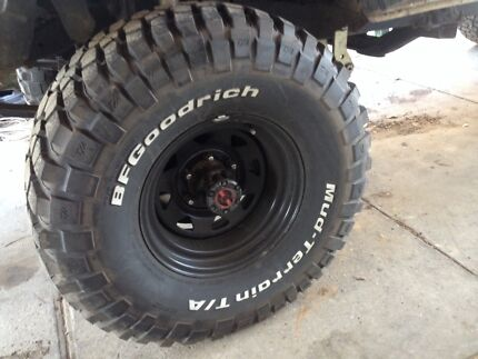 """Bf Goodrich km2 mud tyres 33"""" Sorell Sorell Area Preview"""