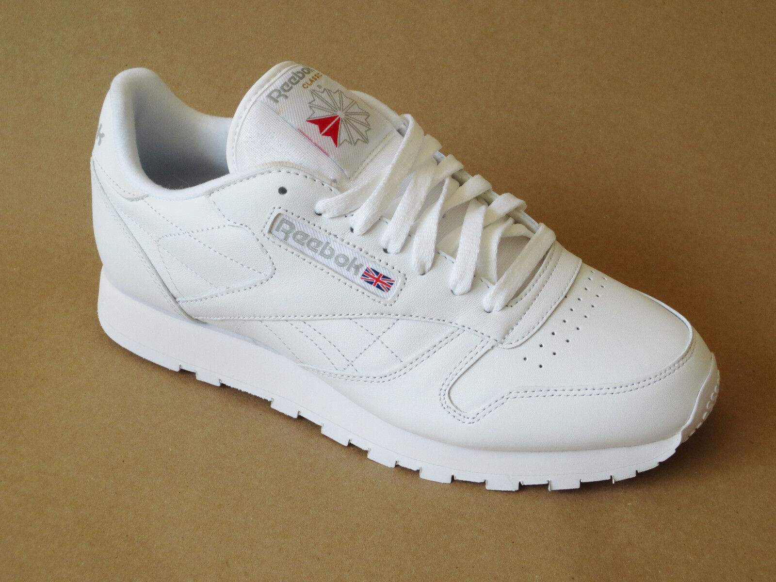 85b31f863c3c Reebok Mens Classic Leather Casual Shoes Sneakers New White фото