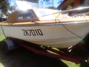 Haines hunter 5m half cabin with mercury outboard, strong trailer Ipswich Ipswich City Preview