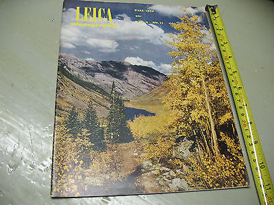 LEICA PHOTOGRAPHY MAGAZINE  FALL  1950 VO. 3 No. II   EXCEPTIONALLY NICE