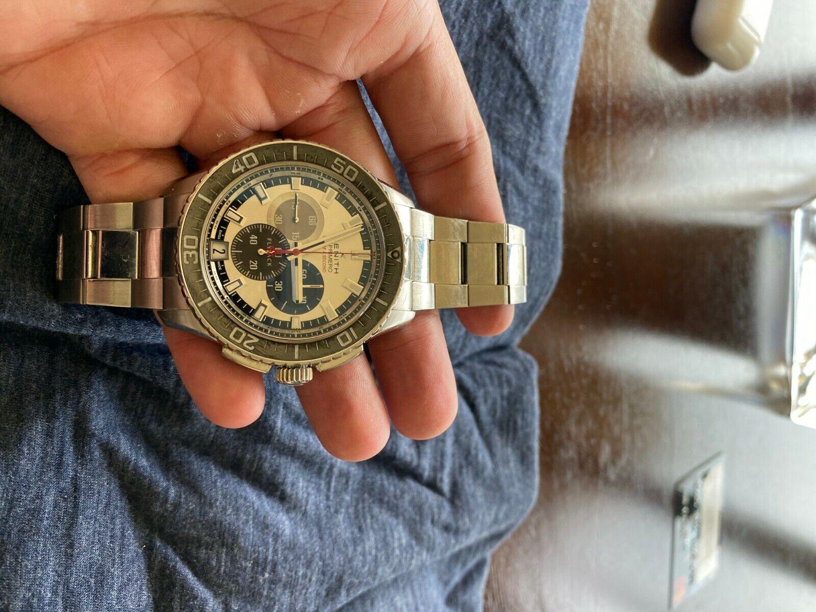 Zenith El Primero flyback Felix Baumgartner Stainless Steel - watch picture 1