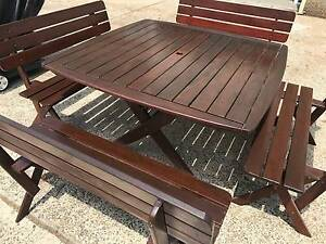 Jarrah Outdoor Table and Chair Set Cronulla Sutherland Area Preview