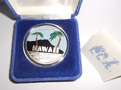 Hawaii  999 Fine Silver 1Oz  E Komo Mai 2005 National Guard Conference Coin